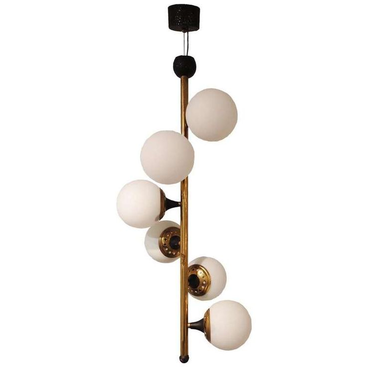 mid century modern lighting fixtures. a six light mid century chandelier by stilnovo from unique collection of antique and modern lighting fixtures
