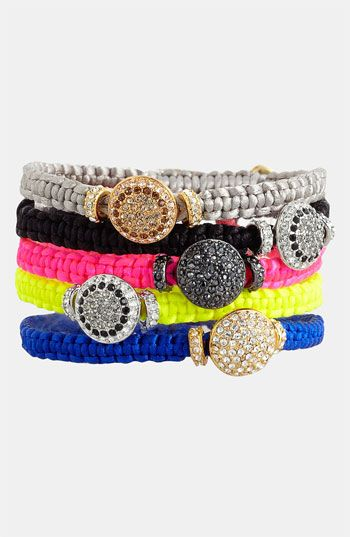 Ooh la la - mixed-material jewelry is all the rage this season! We love this Vince Camuto Macramé Bracelets from @Nordstrom