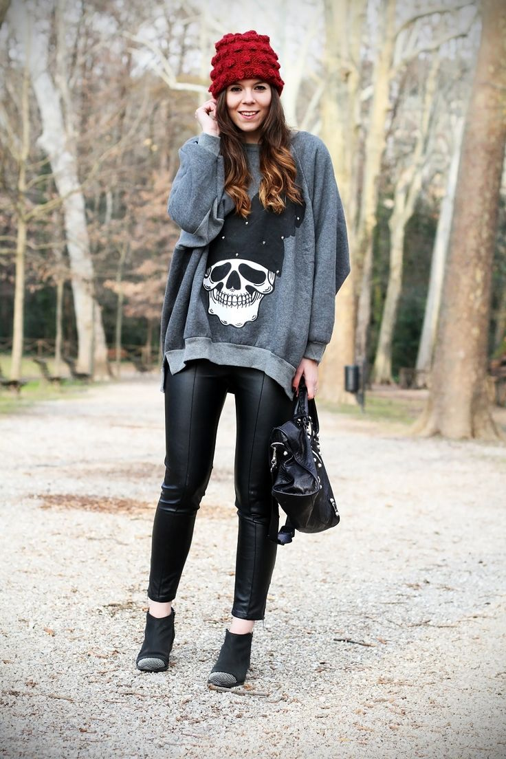 Streetstyle outfit look from Irene's Closet fashion blog with leather pants!  -1 to Fashion Week!