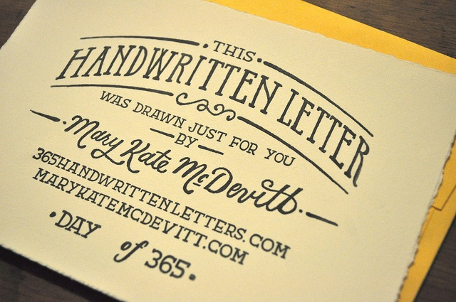 Handwritten Letter Stamp by Mary Kate McDevitt