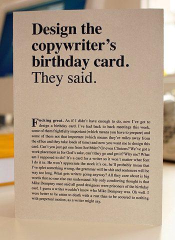 Copywriting or copywriting