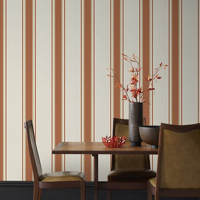 Orla Burnt Orange Wallpaper by Graham and Brown (DINING ROOM)