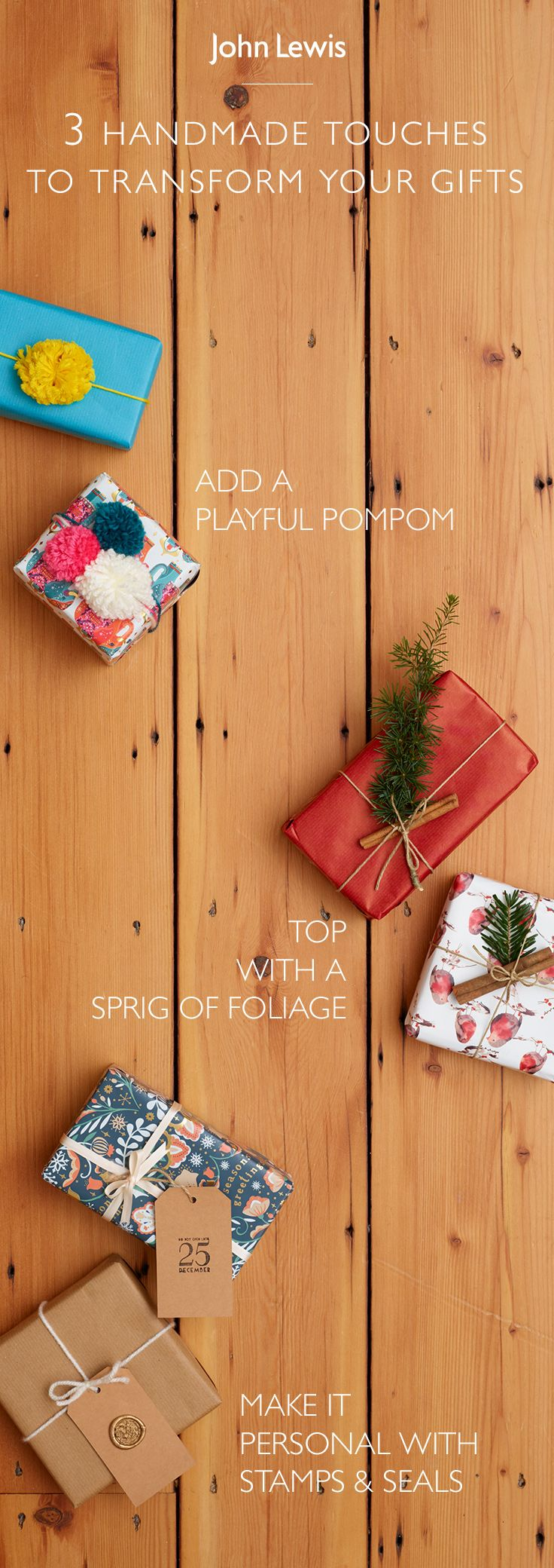 You've chosen the perfect christmas gift- now find the perfect wrapping paper this festive season. Whether you're looking for something sparkly or subtle we have it all with pom poms, ribbon and gift tags to add the perfect finishing touch.