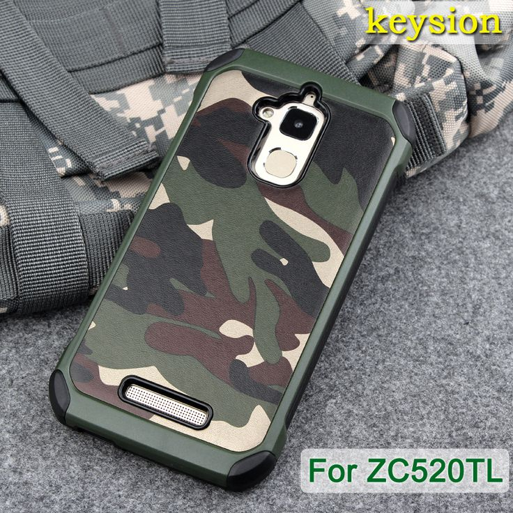 """Luxury Army Camo Camouflage Hybrid Armor Capa Cases For Asus Zenfone 3 Max ZC520TL 5.2"""" Shockproof Double Protection Back Cover"""