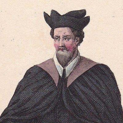 Portrait-Couleur-XIXe-Francois-de-Fougerolles-Medecine-Medecin-Henri-III