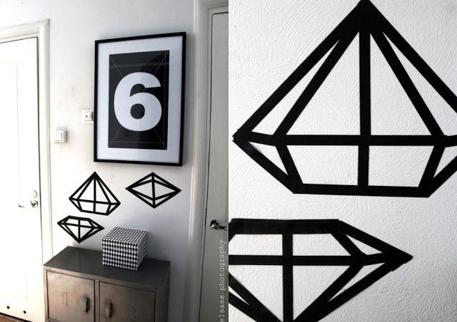 DIY: washi diamonds