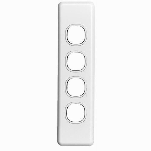 Clipsal 4 four Gang Quad Architrave Wall Plate Light Switch Classic Series C2034