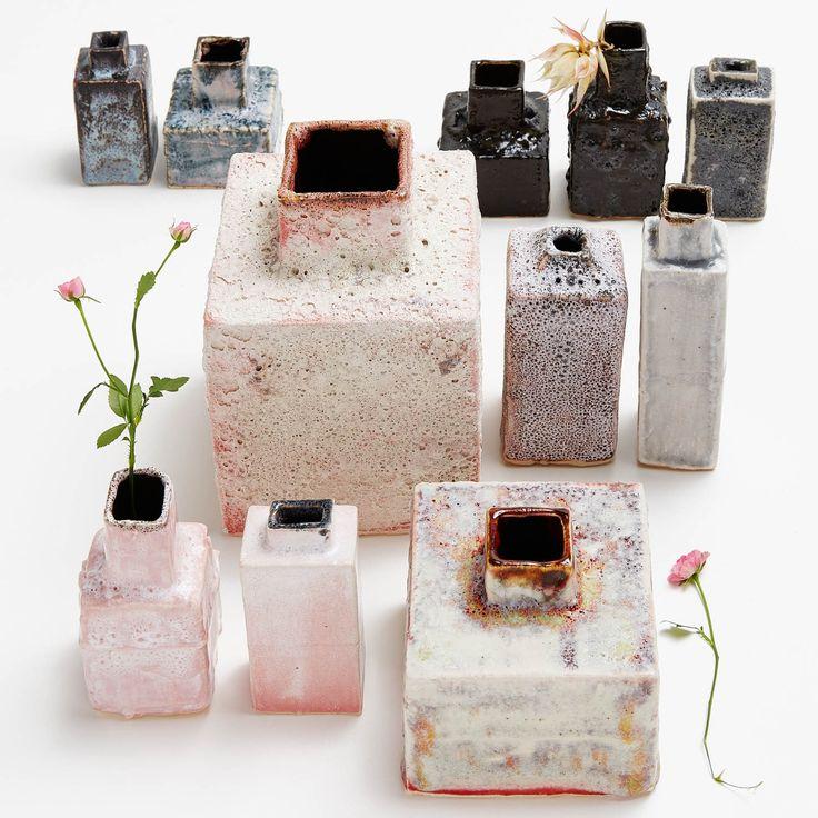 A former banker who took an evening art class on a lark, Iceland-based ceramics designer Bjarni Sigurdsson has a collection of vase glazed in volcanic ashes.