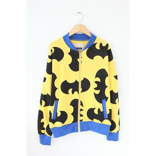Harajuka style batman print zip-up Shop Now: http://ontrendmall.com/index.php?route=product/product&product_id=234