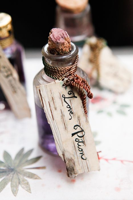 Spread the love with a little love potion wedding favour! Perfectly magical for an enchanted forest wedding!