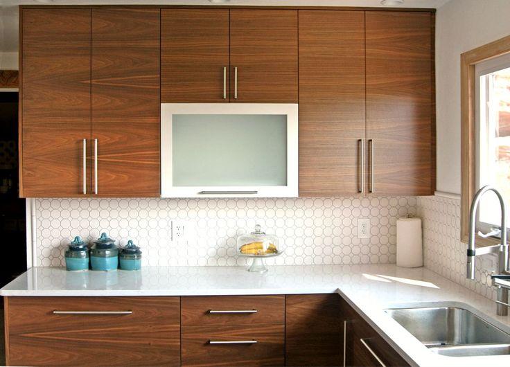 awesome Kitchen And Bath Denver #9: BKC Kitchen and Bath Denver kitchen remodel: Crystal Cabinets, Manhattan door style, Breezewood on Walnut | Contemporary Kitchens | Pinterest | Denver, ...