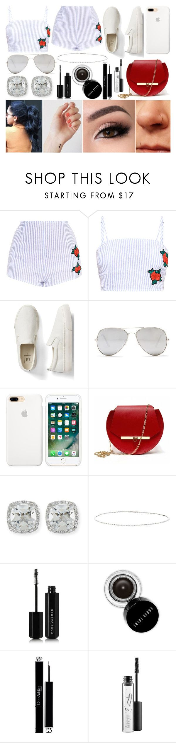 """Summer Lovin'"" by susanna-trad on Polyvore featuring Gap, Sunny Rebel, Angela Valentine Handbags, Frederic Sage, Suzanne Kalan, Marc Jacobs, Bobbi Brown Cosmetics, Christian Dior and MAC Cosmetics"