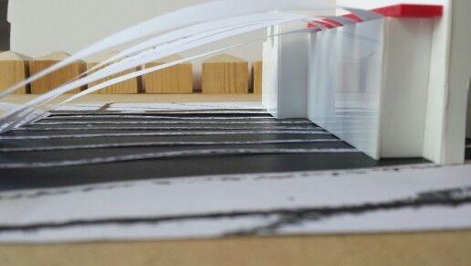 Vac Form plastic block model with contour lines testing