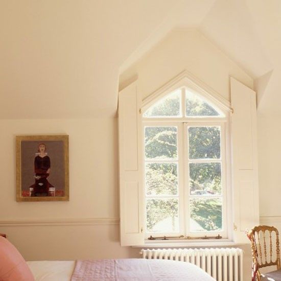 Shutters for a small triangular window