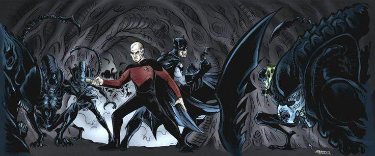 Captain Picard Batman vs Aliens