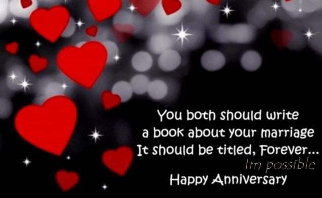 Cute Wedding Anniversary Wishes Message Card for a Couple