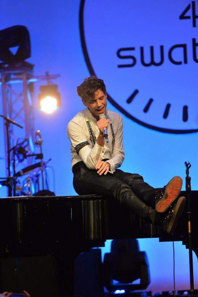 Mika for Swatch in Milan 2014