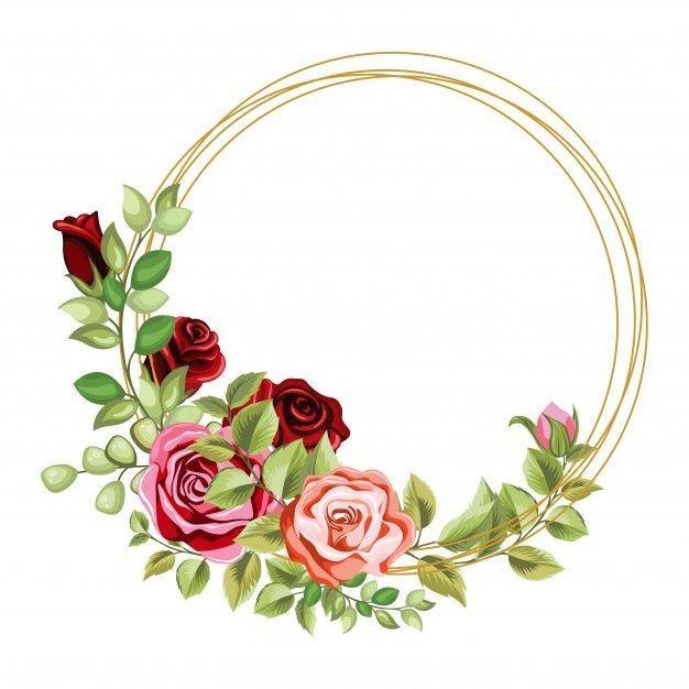 Online Background Floral Border Design Floral Poster Circle Frames