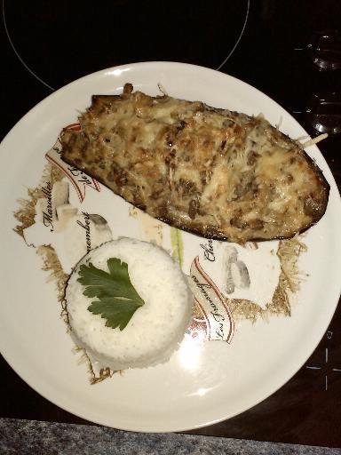 Aubergines farcies viande hachée/légumes : Recette d'Aubergines farcies viande hachée/légumes - Marmiton