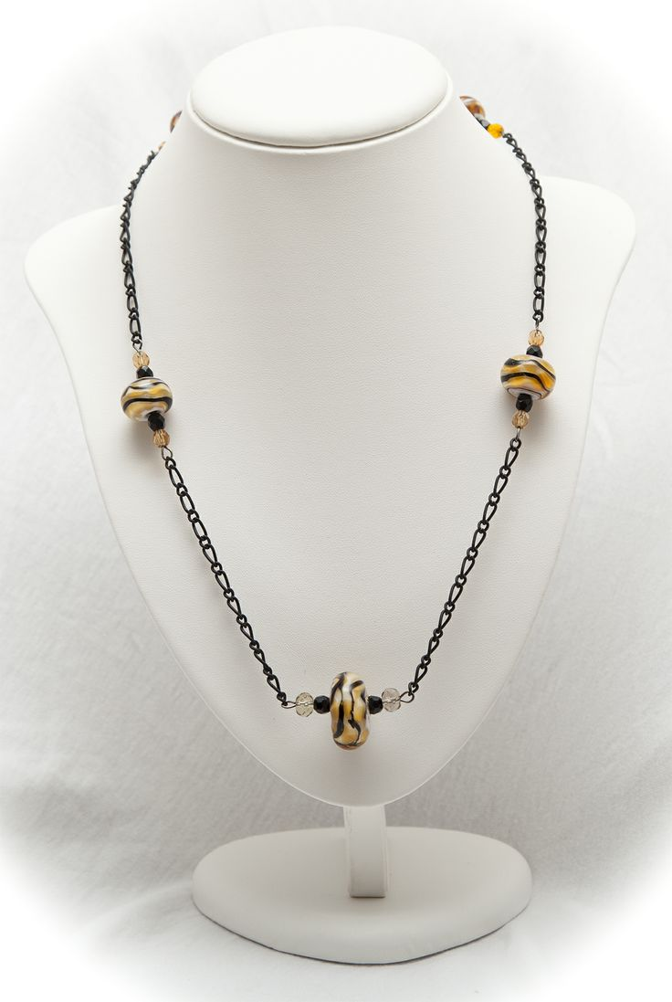 tiger stripe beads necklace