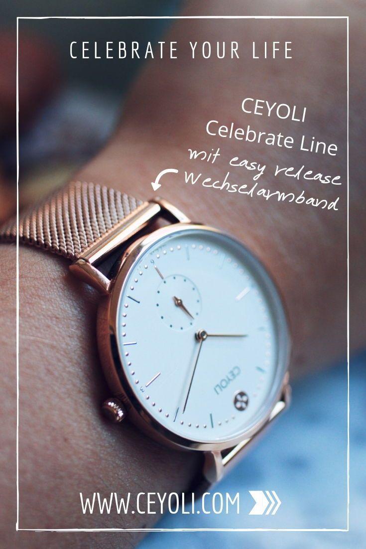 Uhr Celebrate Line White Rosegold Meshband Rosegold In 2019 Ceyoli