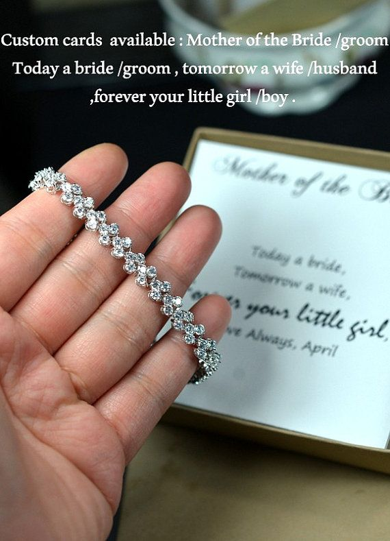 Mother Of Bride Groom Gift Personalized Bridesmaid Bridal Earrings Necklace Set Wedding Bracelet Jewelry