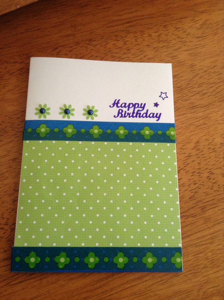 Simple birthday card using washi tape