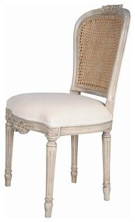 Cane Dining Chair Colefax Ribbon French - traditional - dining chairs and benches - other metro - by Charlotte and Ivy
