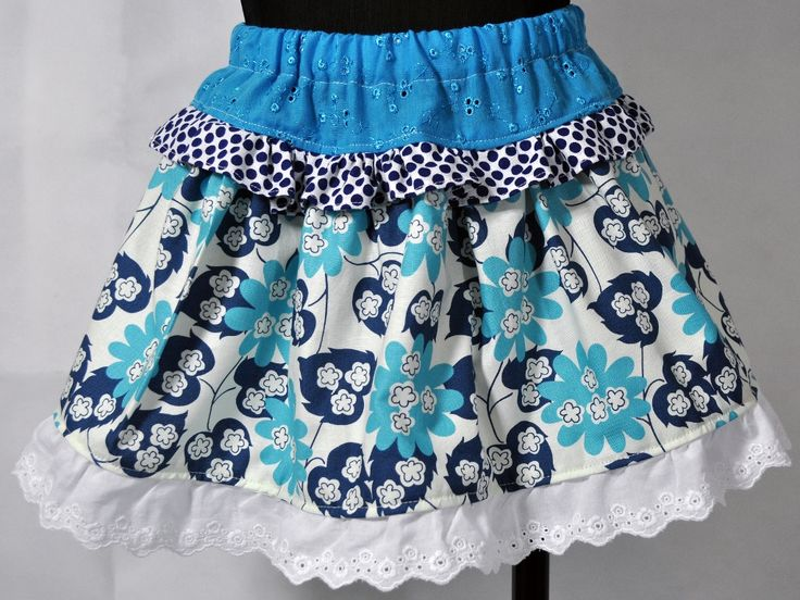 The Lacey Blue Flower Ruffled Skirts are handmade and designed here in Australia by a boutique baby designer label 'Little M Designs'. The skirt is made from quality fabric and is finished with a elastic waist for maximum comfort and easy fitting.