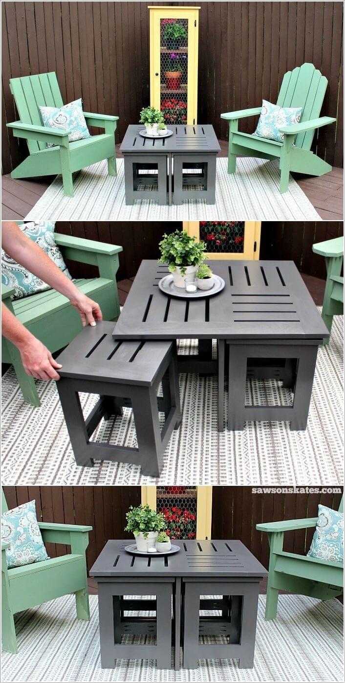 13 Diy Outdoor Coffee Table Ideas Diy Outdoor Table Backyard Furniture Outdoor Coffee Tables [ 1396 x 706 Pixel ]