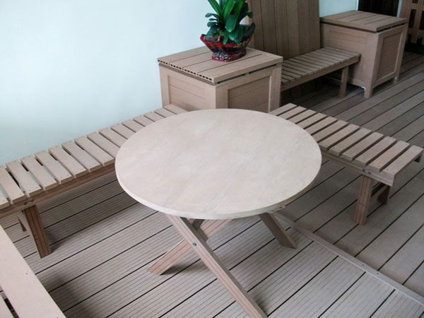 Near Water Outdoor Composit Benches Waterproof, Replacement Garden Benches  Use Composite Material Part 50