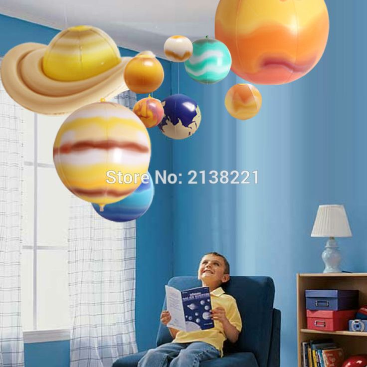 10 Pieces/Set Solar Galaxy Teaching Model Balloons Charm Simulation Nine Planets In Solar System Children Blow Up Inflatable Toy