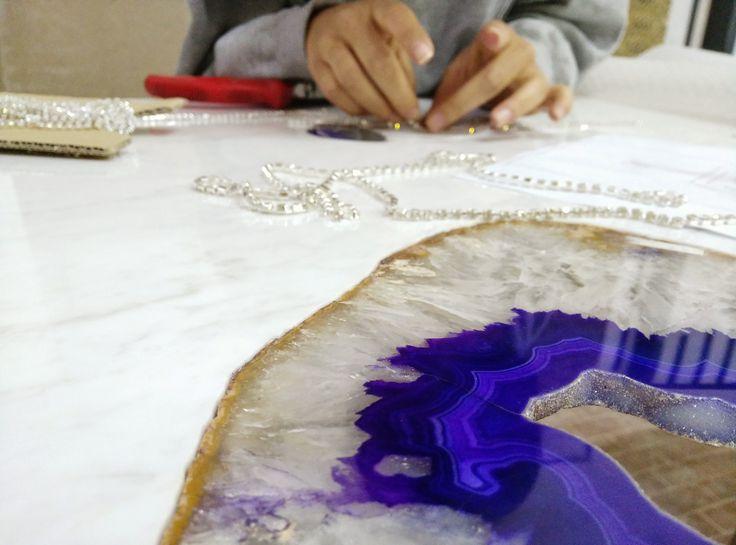 Agata viola+ Swarowski handmade creation. Italian luxury. #фиолетовыйагат +кристаллы Swarowski. #итальянскаяроскошь