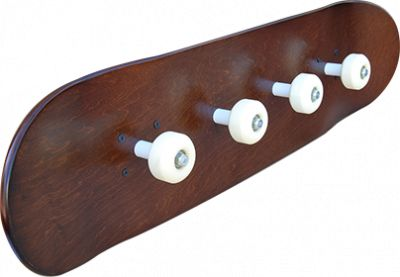Skateboard coat rack. (Furniture Designs Recycled)