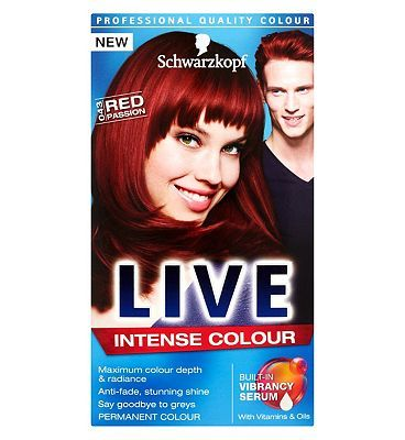 Schwarzkopf LIVE Color XXL HD 43 Red Passion 20 Advantage card points. Experience true HD colour with Schwarzkopf LIVE Color XXL HD Red Passion 43. A deep, intense red full of vivid colour reflexes, totally wearable but exciting. FREE Delivery o http://www.MightGet.com/february-2017-1/schwarzkopf-live-color-xxl-hd-43-red-passion.asp