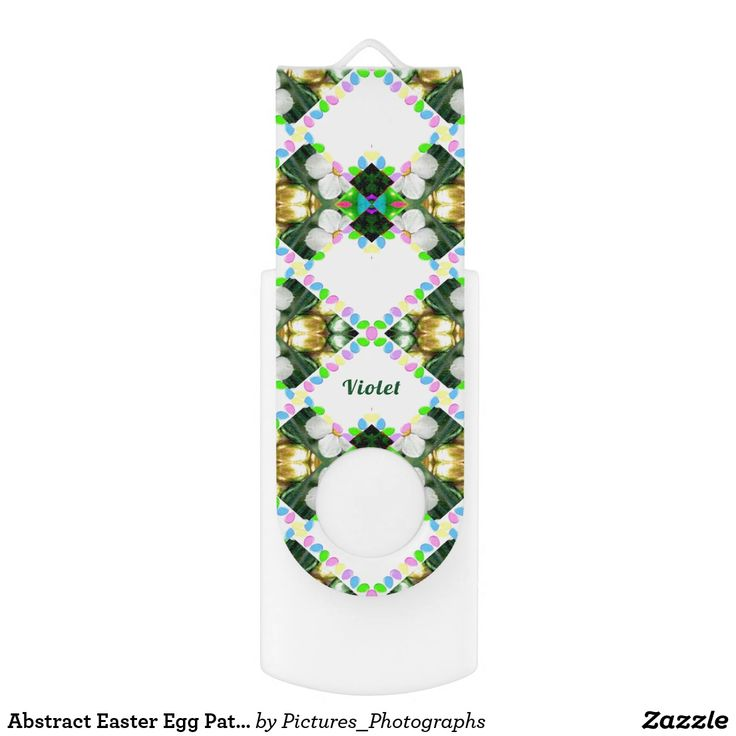 Abstract Easter Egg Pattern ~Personalised VIOLET ~ USB Flash Drive
