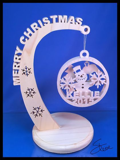 Scrollsaw Workshop: Christmas Ornament Stand Scroll Saw Pattern.