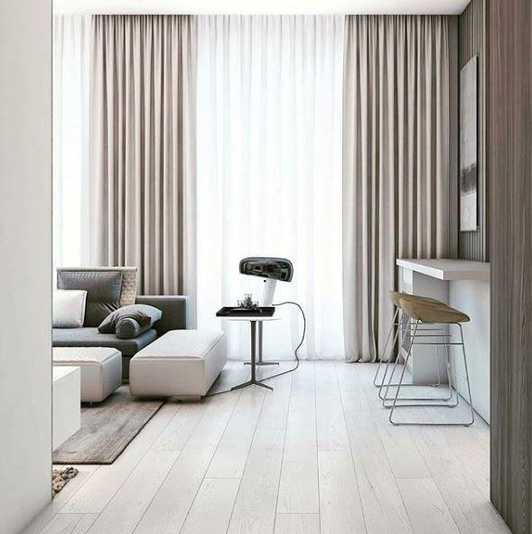 Simple Modern Apartment With Pastel Colors Looks So Cozy: Bekijk 32 Mooie Voorbeelden Van Gordijnen