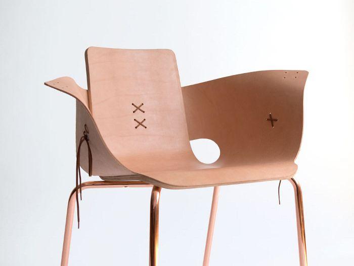 Shoemaker chair la chaise à lacets par Martín Azúa