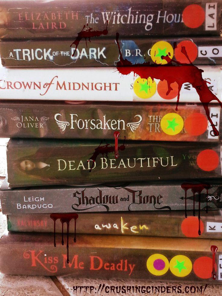 Halloween Book Spine Poetry
