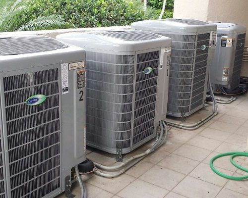 4 Of 6 Carrier Infinity Greensd Air Conditioning Systems Installed In A Home C Gables Fl