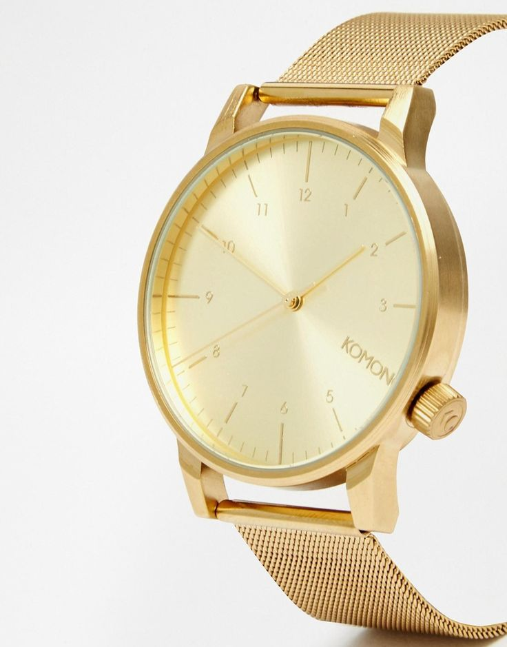 Komono Winston Royale Gold Mesh Watch