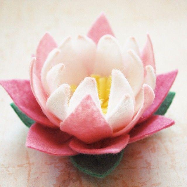 """Final shot of the lotus #handmade #lotus #wool #felt #flower"""