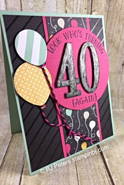 962 best big birthday cards images on pinterest big birthday cards stamp set number of years balloon bouquet punch dsp its my party color me irresistible clear wink of stella glitter brush bookmarktalkfo Images