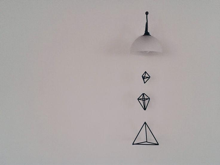 Geometryczne ozdoby ze słomek DIY