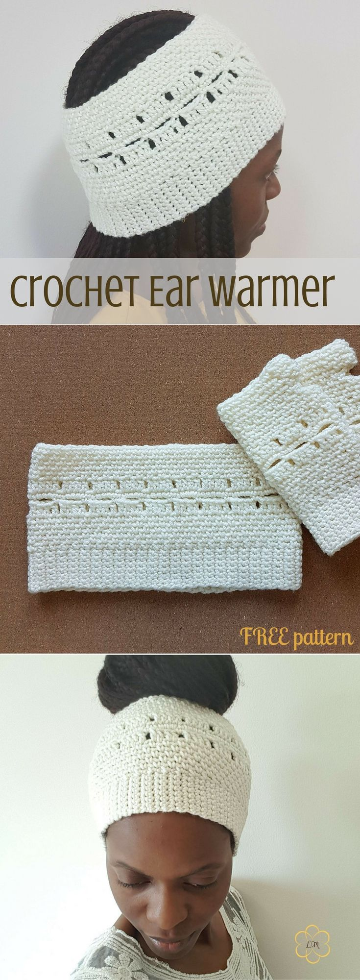 Cozy up your ears with this crochet ear warmer in 3 sizes. Try it!