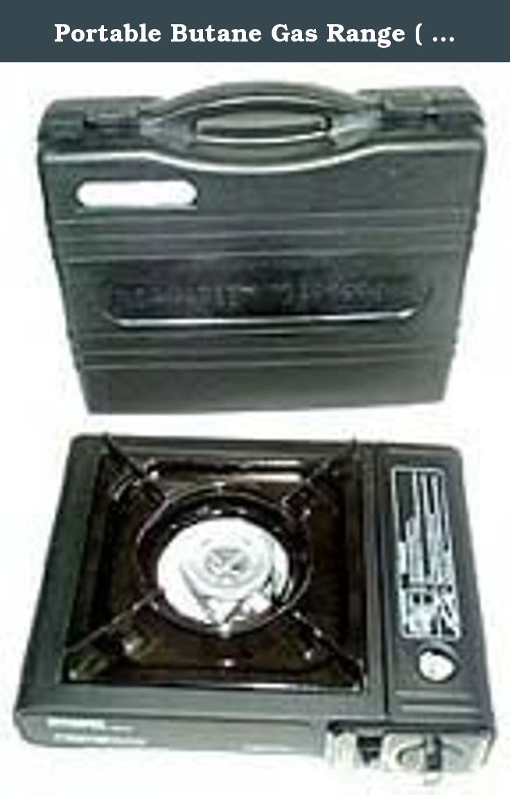 """Portable Butane Gas Range ( Stove ) - Extra Packaging. Extra Packaging Option; Specifications: - Type: Portable Stove - Size: 13-1/2"""" x 11"""" x 3-1/2"""" - Fuel: Liquified Butane Gas - Fuel Consumption: 0.15 Kg/h - 7200 BTU Features: - Electronic Lighter: Ignites the burner keep clean for smooth ignition - Windshield: Prevents flame from being extinguished by wind. Insures a steady even flame temp - Gas Can Port/Gas Can Cover: Insert finger to pull hood open - Liquid Guard: Holds liquid…"""