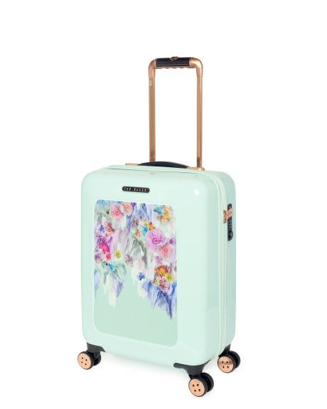 Sugar sweet floral cabin suitcase - Pale Green | Bags | Ireland Site