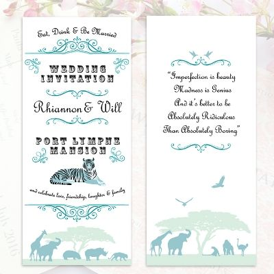 36 best wedding quotes poems song lyrics images on pinterest another quirky wedding invitation for port lympne wild animal reserve eat drink and be married and celebrate love friendship laughter and family stopboris Image collections