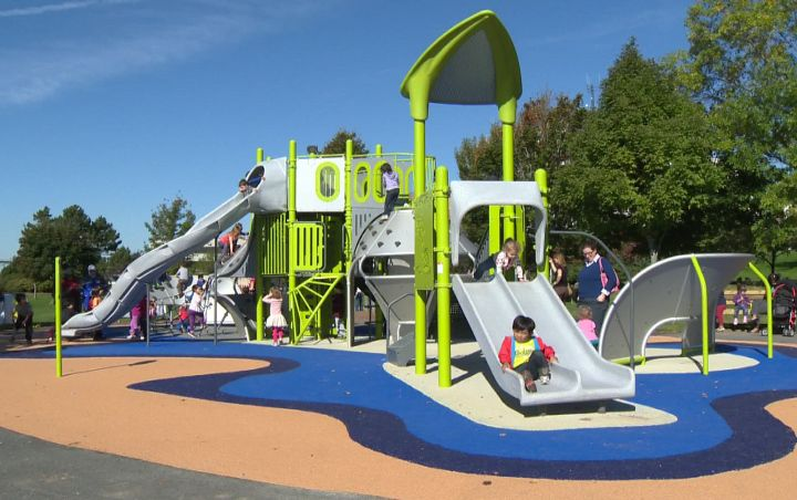 Dartmouth playground reopens after being torched in March